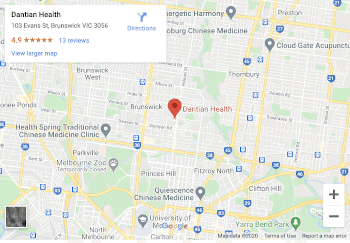 Dantian Health Melbourne Map 350